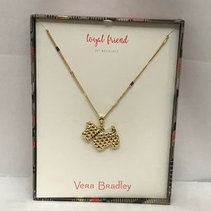 Vera Bradley LOYAL FRIEND Scottie Dog Necklace New
